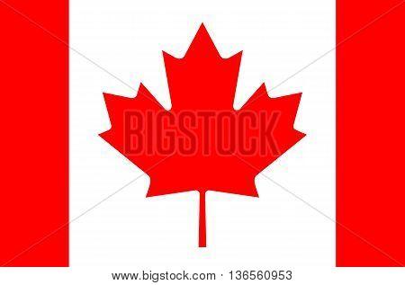 Canada flag vector illustration national flag isolated