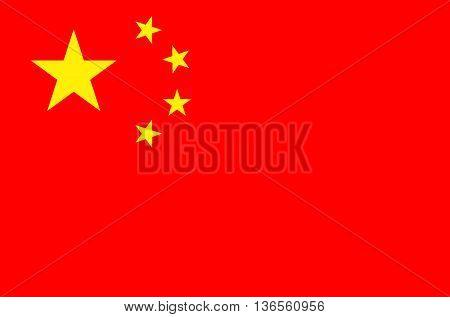 China flag vector illustration national flag isolated