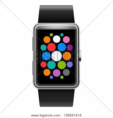 Wearables Device Smart Watch with Color Apps Icons