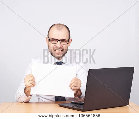 Businessman Holding A Folder Of Document