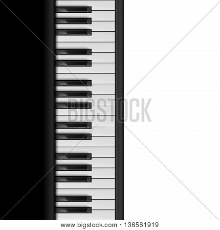 Piano Keys. Seamless Illustration for Creative Design