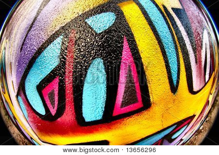 Fish Eye graffiti