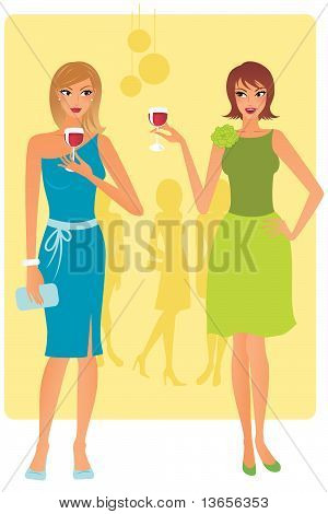 Women at party
