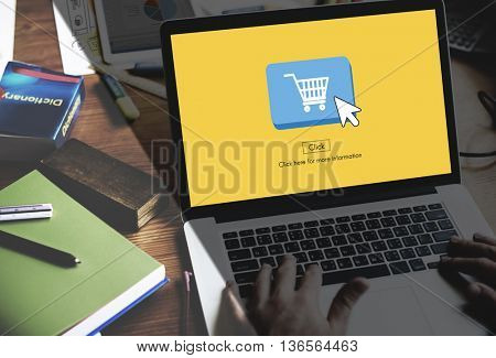 Online Shopping Business Click Commercial Concept