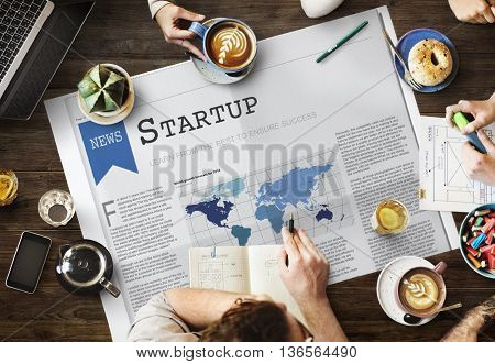 Start-up Business Enterprise Launch Opportunity Concept