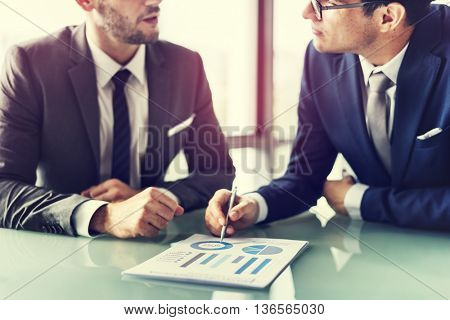 Men Talking Business Analysis Concept