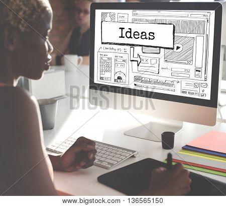 Ideas Create Conceptualize Innovation Think Concept