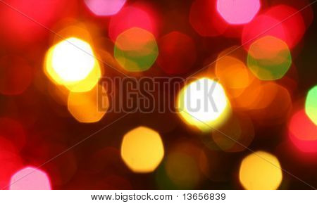 Out of focus Christmas lights