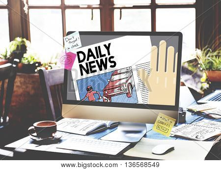 Daily News Annoucnement Communication Media Concept