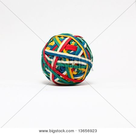 Elastic band, rubber band ball