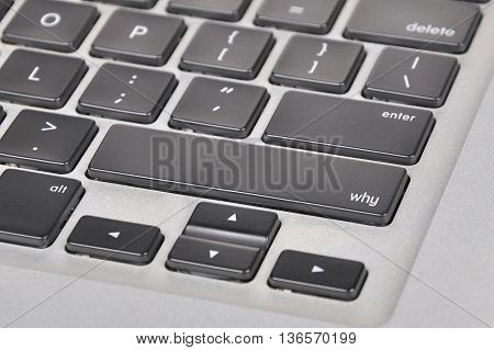 The Computer Keyboard Button Written Word Why