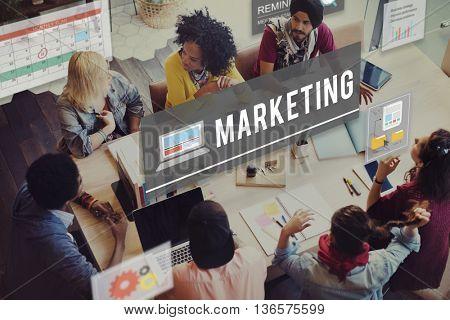 Marketing Advertising Branding Commercial Plan Concept