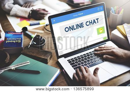 Online Chat Message Connection Talking Concept