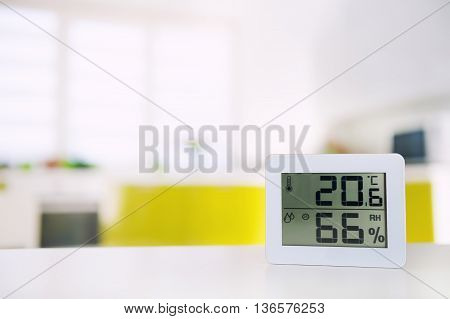 Measurement of temperature and humidity in the room