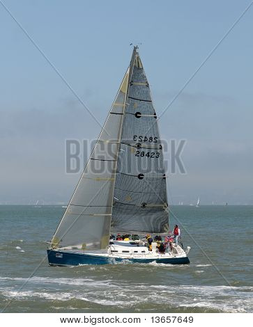 Sailboat Near San Francisco