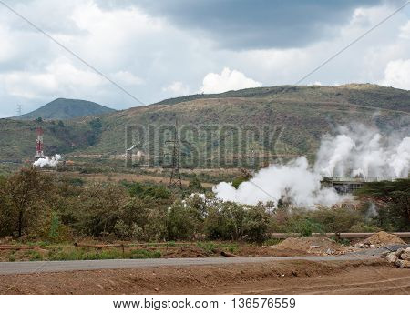 Olkaria Ii  Geothermal Power Plant In Kenya