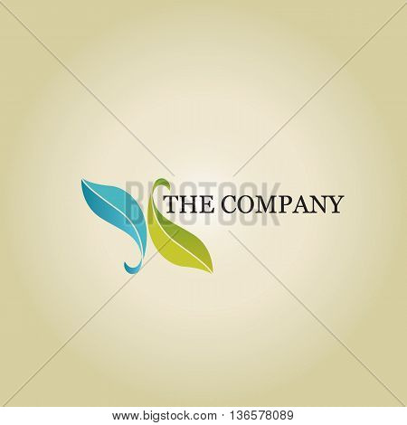 leaf logo  ideas design vector on background