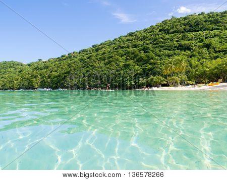 a tropical beach in the Caribbean island