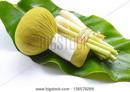 Thai herbal ball hot compress massage aroma