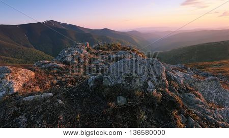 beautiful summer landscape in Europe, Ukraine, Carpathian mountains