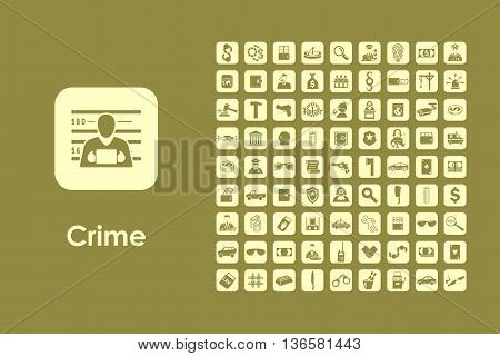It is a set of crime simple web icons