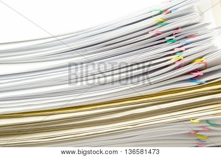 White Document And Paperclip Place Switching With Brown Envelope