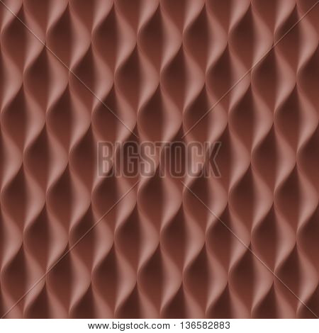 Vertical Wavy Seamless Pattern. Brown Color Background