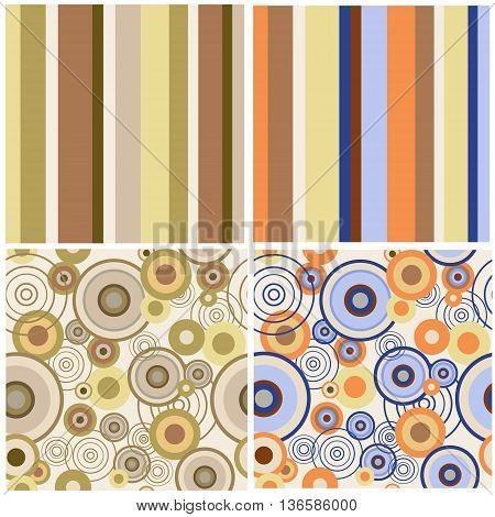 The set of a abstract seamless patterns