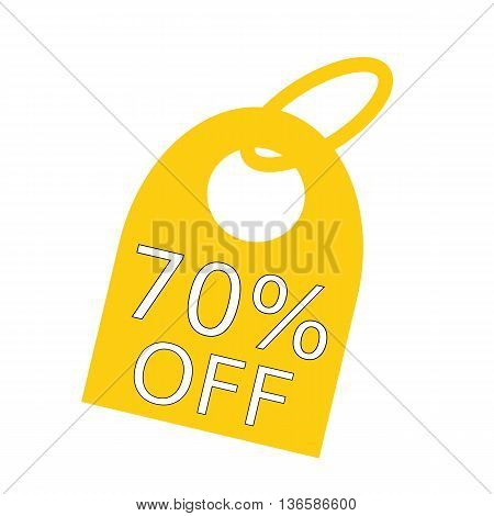 70% OFF white wording on background yellow key chain