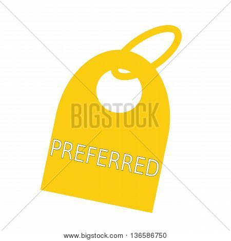 preferred white wording on background yellow key chain