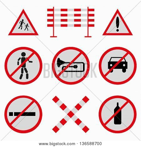 colored road signs collection of beautiful symbols