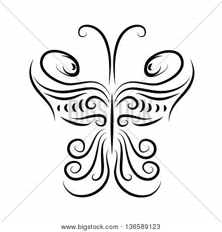 Design element in the shape of a butterfly