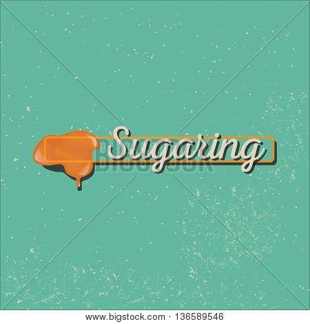Vector sugaring icon. sugar paste for epilation