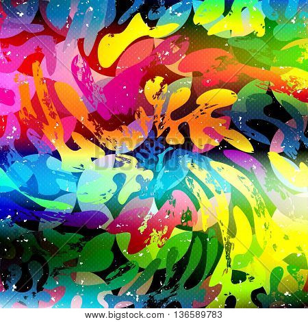 Graffiti bright color pattern vector illustration abstract high quality