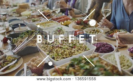 Buffet Cuisine Catering Meal Food Concept