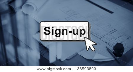 Sign-Up Join Login Member Network Page User Concept
