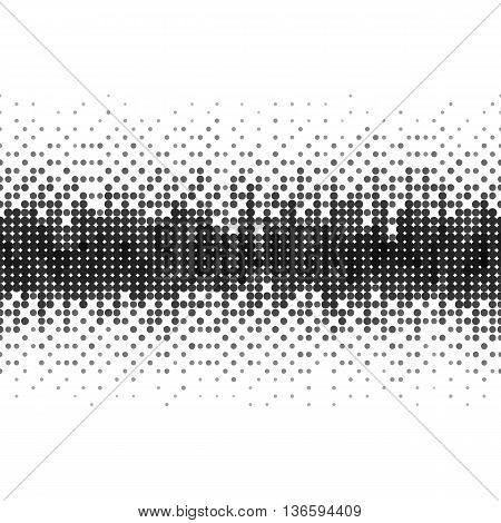 Gradient Seamless Background with Black Dots for Creative Idea