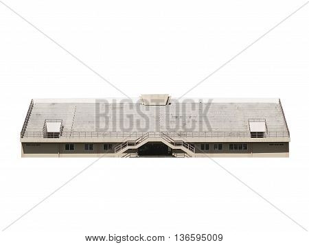 old white Grandstand isolated on white background