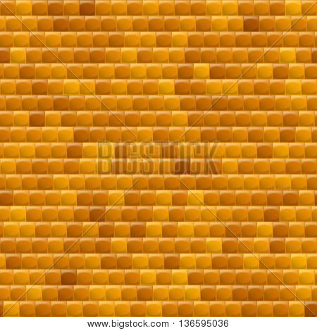 Heterogeneous Corrugated Surface. Seamless Pattern Yellow background