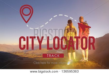 City Locator Direction Metropolis Population Concept