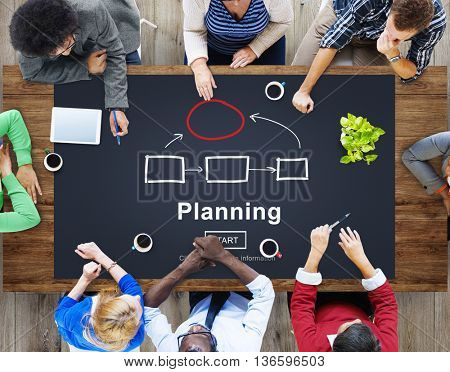 Planning Strategy Vision Collaboarate Solutions Concept