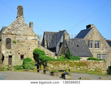Village of Locronan in Brittany, Northen France.