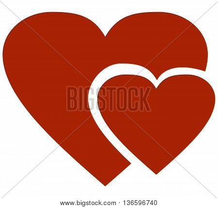 Two hearts vector icon heart shape human heart vector two objects computer