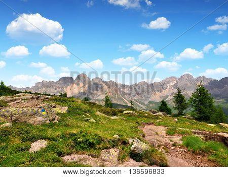 Val di San Pellegrino in Italy Alps