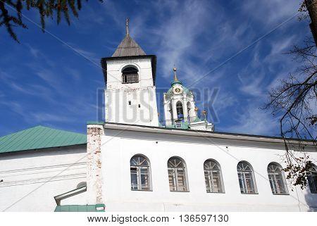 Holy Transfiguration monastery in Yaroslavl Russia. UNESCO World Heritage Site.