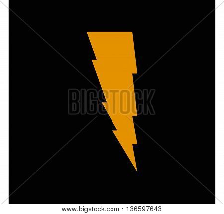 Lightning icon lightning storm vector symbol computer icon dark yellow