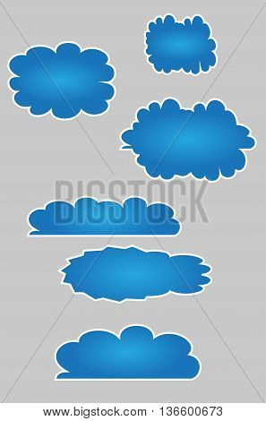 Blue Clouds Set scene vector infographic sky fashionable space