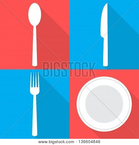 Four Backgrounds With Dining Items In Flat