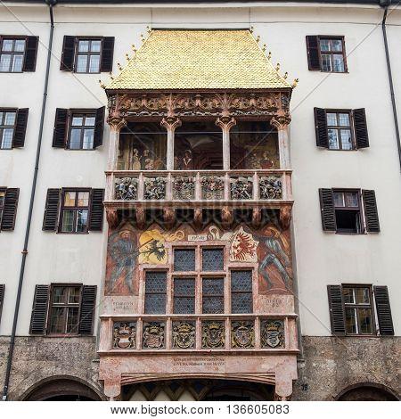 Famous Goldenes Dachl (Golden Roof) Innsbruck Austria