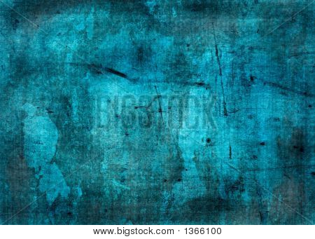 Blue Grunge Texture - Perfect Background With Space For Text